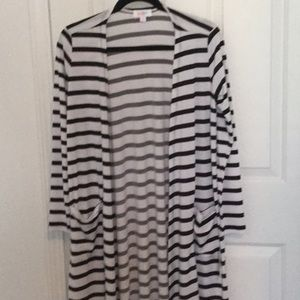 LuLaRoe Sweaters - LuLaroe Black & White striped Sarah Size-S